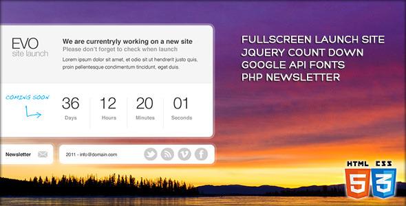 EVO - Fullscreen site launch