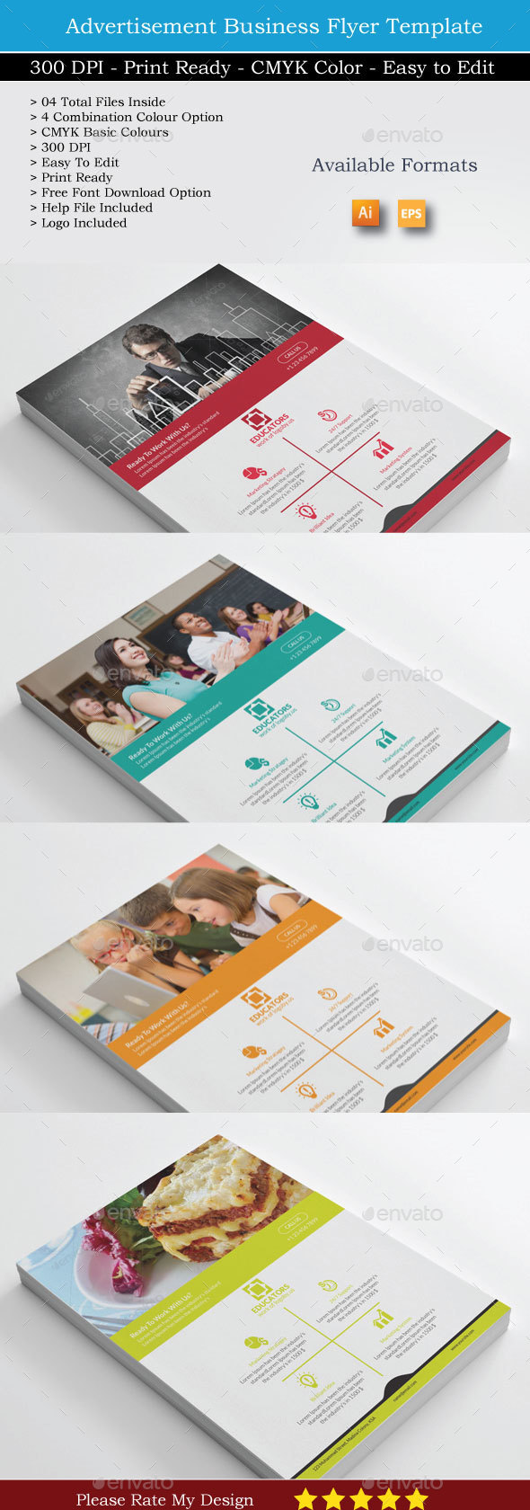 The Educators Business Flyers - Corporate Flyers