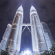 Kuala Lumpur Towes At Night - VideoHive Item for Sale