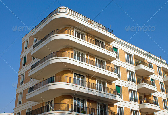 Modern apartment house - Stock Photo - Images