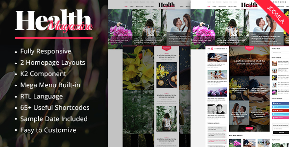 HealthMag – Multipurpose News/Magazine Joomla Template