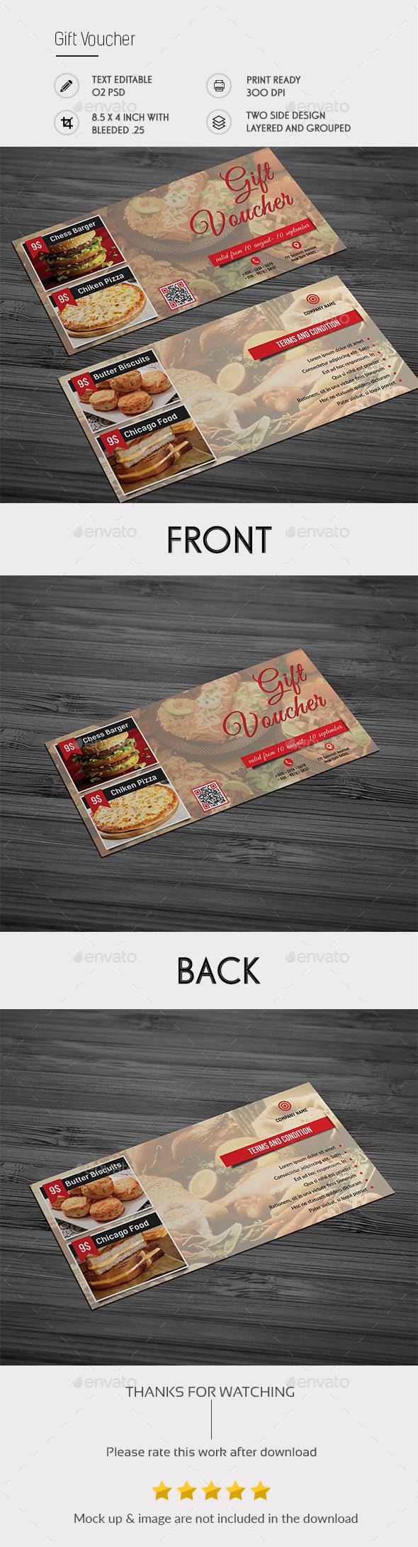 Gift Vouche - Cards & Invites Print Templates