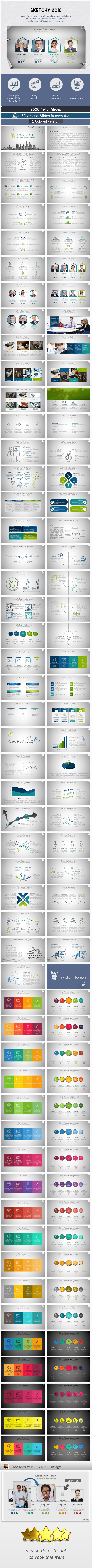 Sketchy 2016 Powerpoint presentation Template - Business PowerPoint Templates