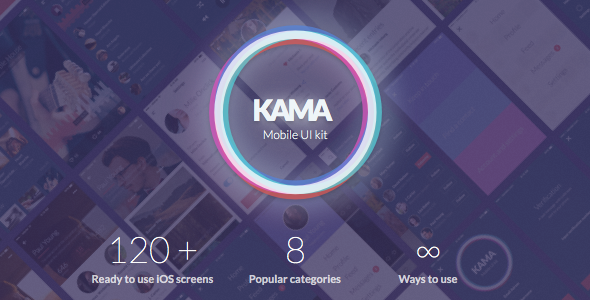 Kama iOS UI Kit - Sketch Templates