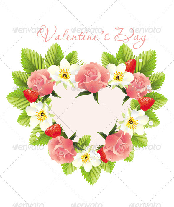 Flower heart shape - Seasons/Holidays Conceptual