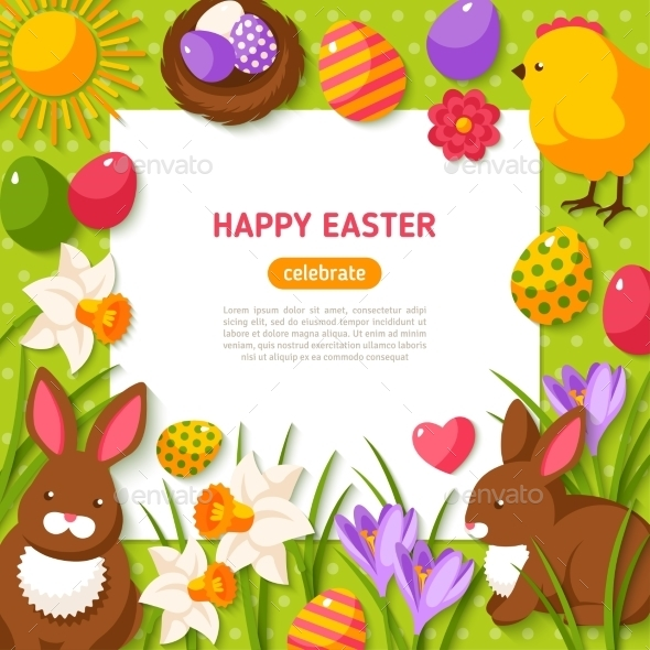 Happy Easter Background - Miscellaneous Seasons/Holidays