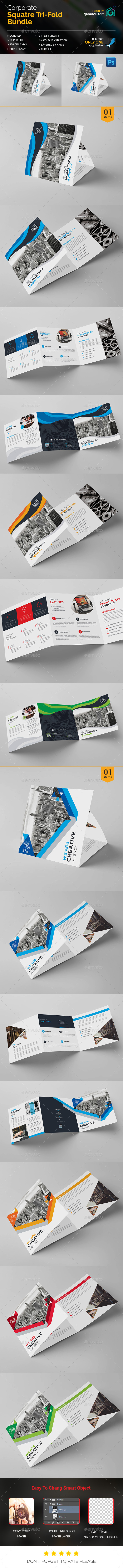 Bundle_Square Tri-Fold Brochure - Corporate Brochures