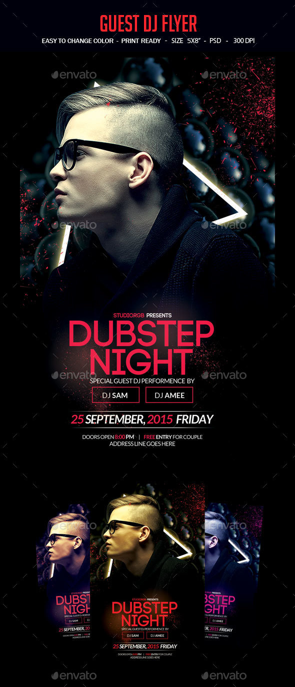 Guest Dj Party Flyer - Clubs & Parties Events