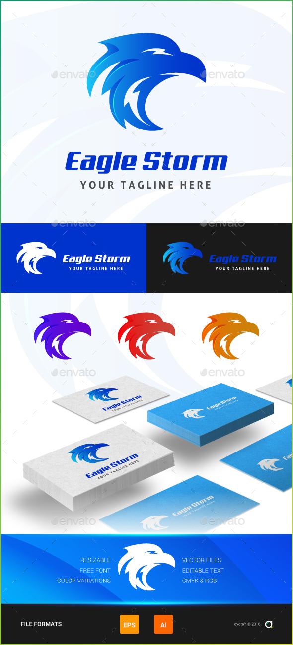 Eagle Storm Logo Template - Animals Logo Templates