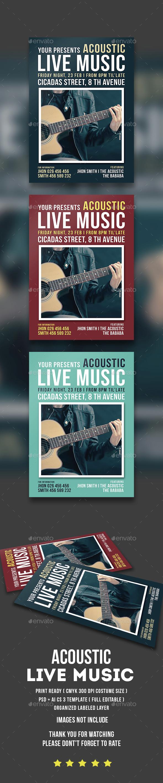 Acoustic Live Music Flyer - Concerts Events