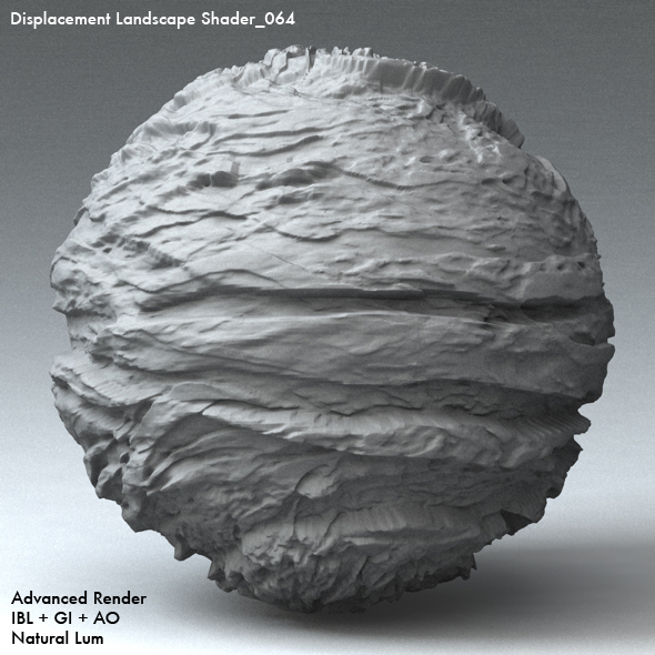 Displacement Landscape Shader_064 - 3DOcean Item for Sale