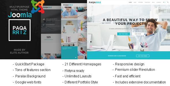 Paqarriz – Multipurpose Joomla Template
