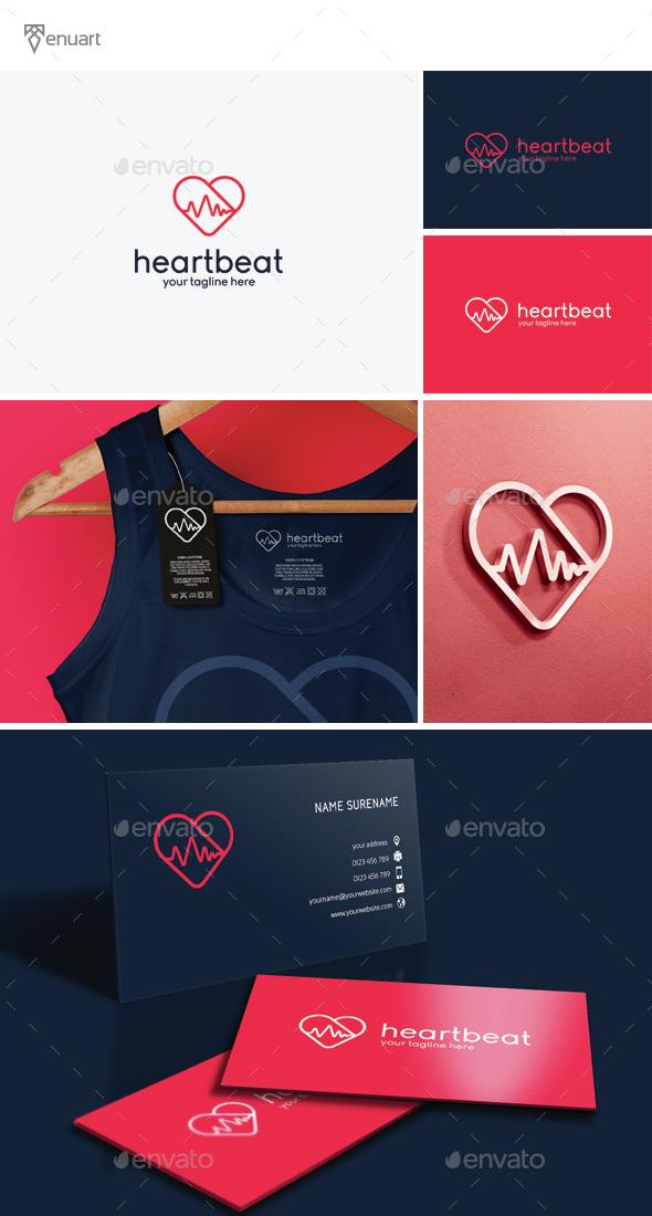 Heart Beat Logo - Symbols Logo Templates