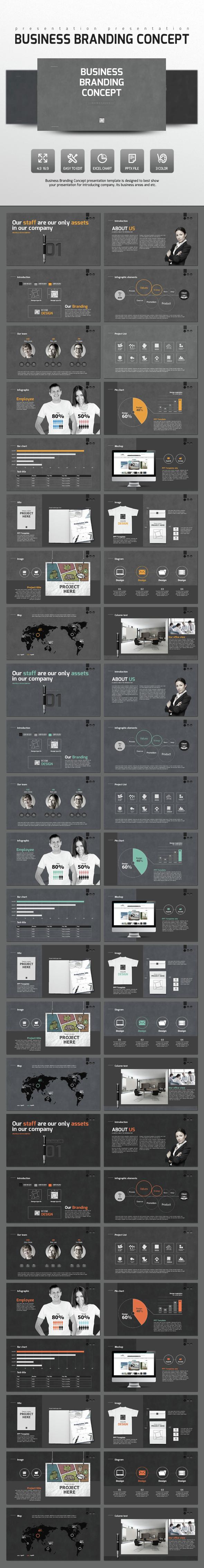 Business Branding Concept - Business PowerPoint Templates