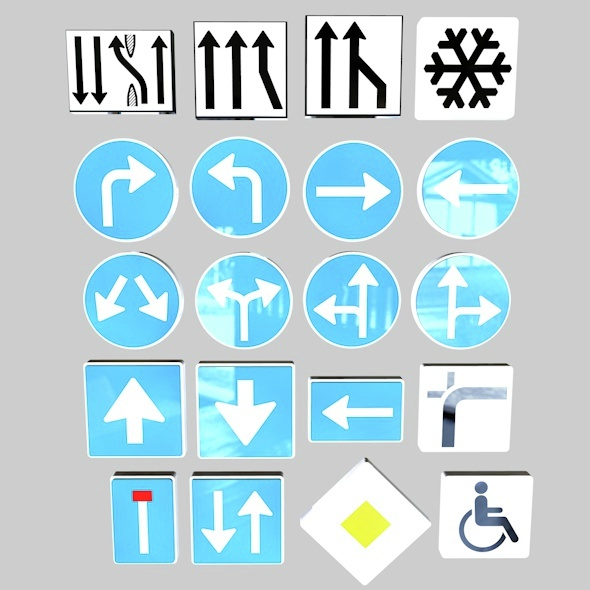 Street Signs Pack Vol. 01 - 3DOcean Item for Sale