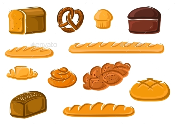 Healthy Natural Bakery And Pastry Products - Food Objects