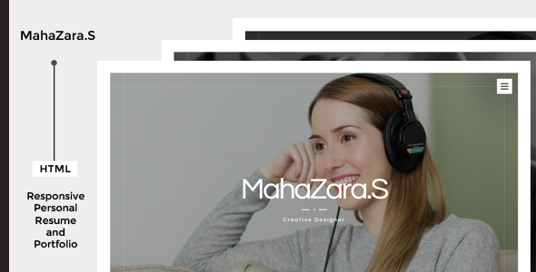 MahaZara.S HTML Personal Resume and Portfolio - Virtual Business Card Personal