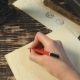 Woman Write Letter To Friend On Vintage Background - VideoHive Item for Sale