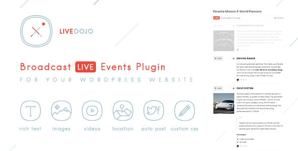 WPLiveDojo - Live Event Text Broadcast Plugin - CodeCanyon Item for Sale