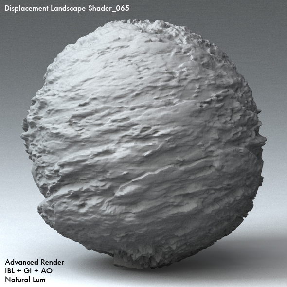 Displacement Landscape Shader_065 - 3DOcean Item for Sale