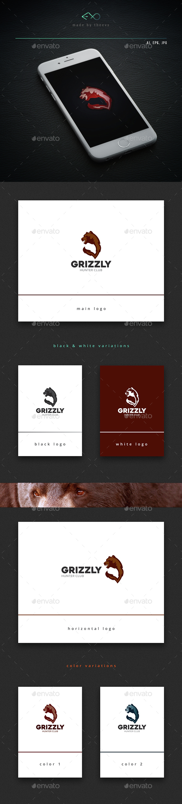 Grizzly - Animals Logo Templates