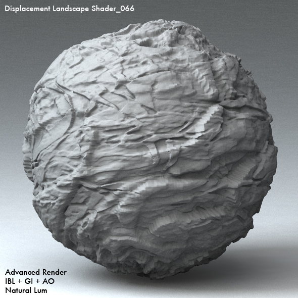 Displacement Landscape Shader_066 - 3DOcean Item for Sale