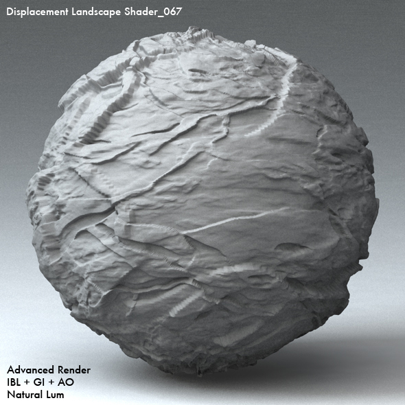 Displacement Landscape Shader_067 - 3DOcean Item for Sale