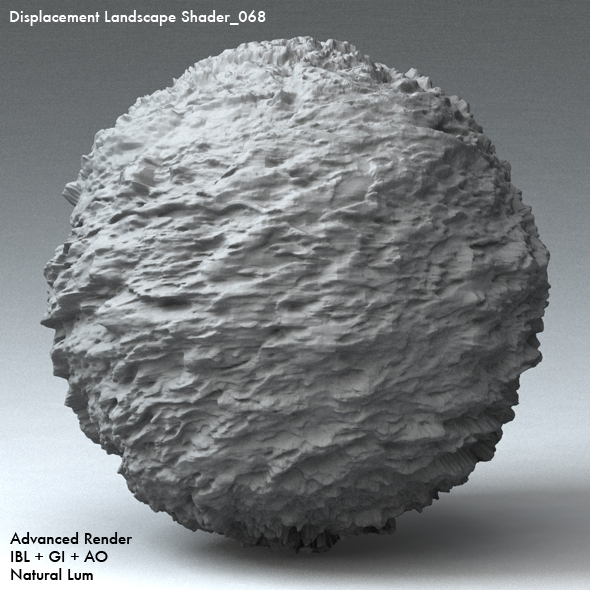 Displacement Landscape Shader_068 - 3DOcean Item for Sale