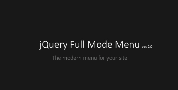 Full Mode Menu - CodeCanyon Item for Sale