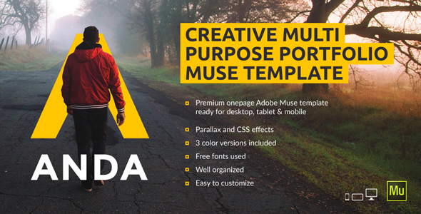 Anda – Creative Multipurpose Portfolio Muse Template