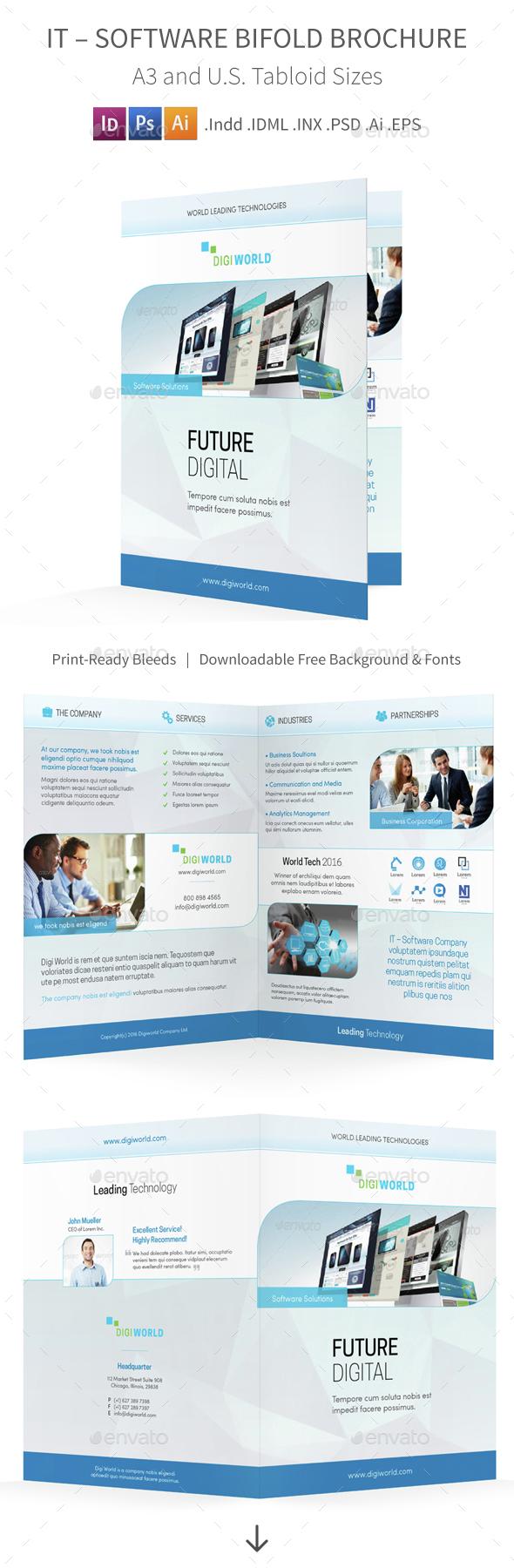 IT – Software Bifold / Halffold Brochure 4 - Corporate Brochures