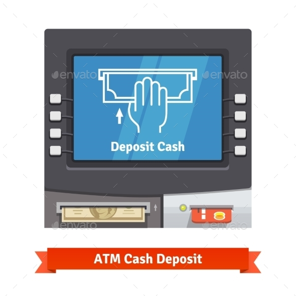 ATM Machine With Current Operation - Technology Conceptual