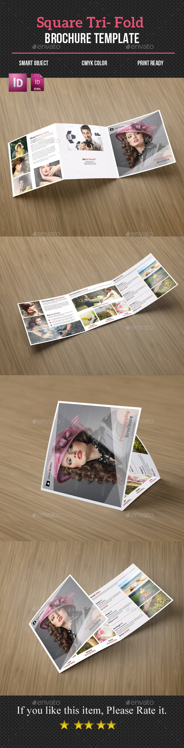 Photography Square Tri- Fold Brochure - Corporate Brochures