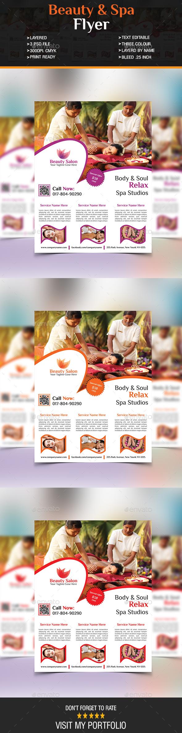Beauty & Spa Flyer - Flyers Print Templates