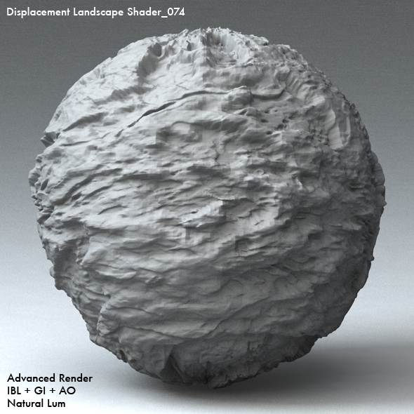 Displacement Landscape Shader_074 - 3DOcean Item for Sale