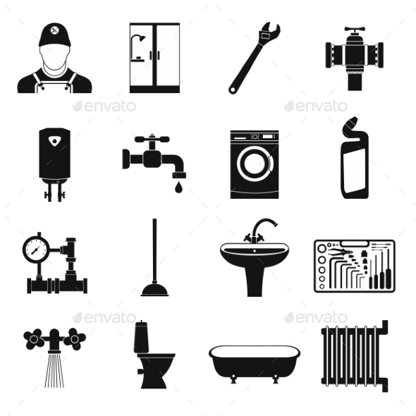 Sanitary Engineering Simple Icons - Miscellaneous Icons