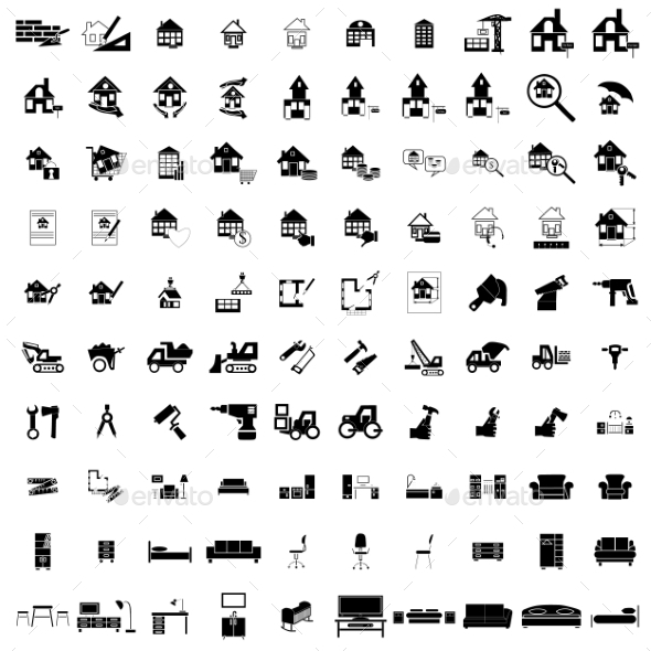 100 House Simple Icons - Miscellaneous Icons