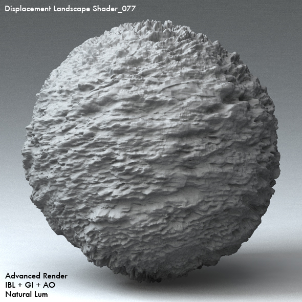 Displacement Landscape Shader_077 - 3DOcean Item for Sale