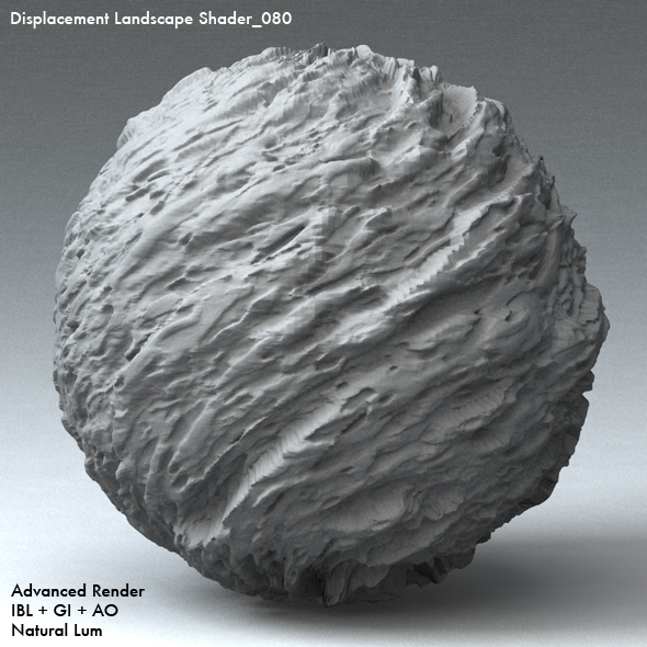 Displacement Landscape Shader_080 - 3DOcean Item for Sale