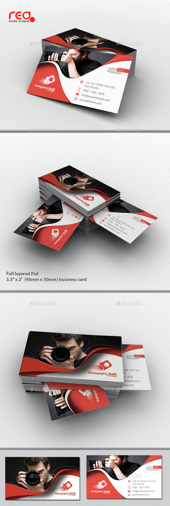 Photography Studio Business Card Set - Business Cards Print Templates