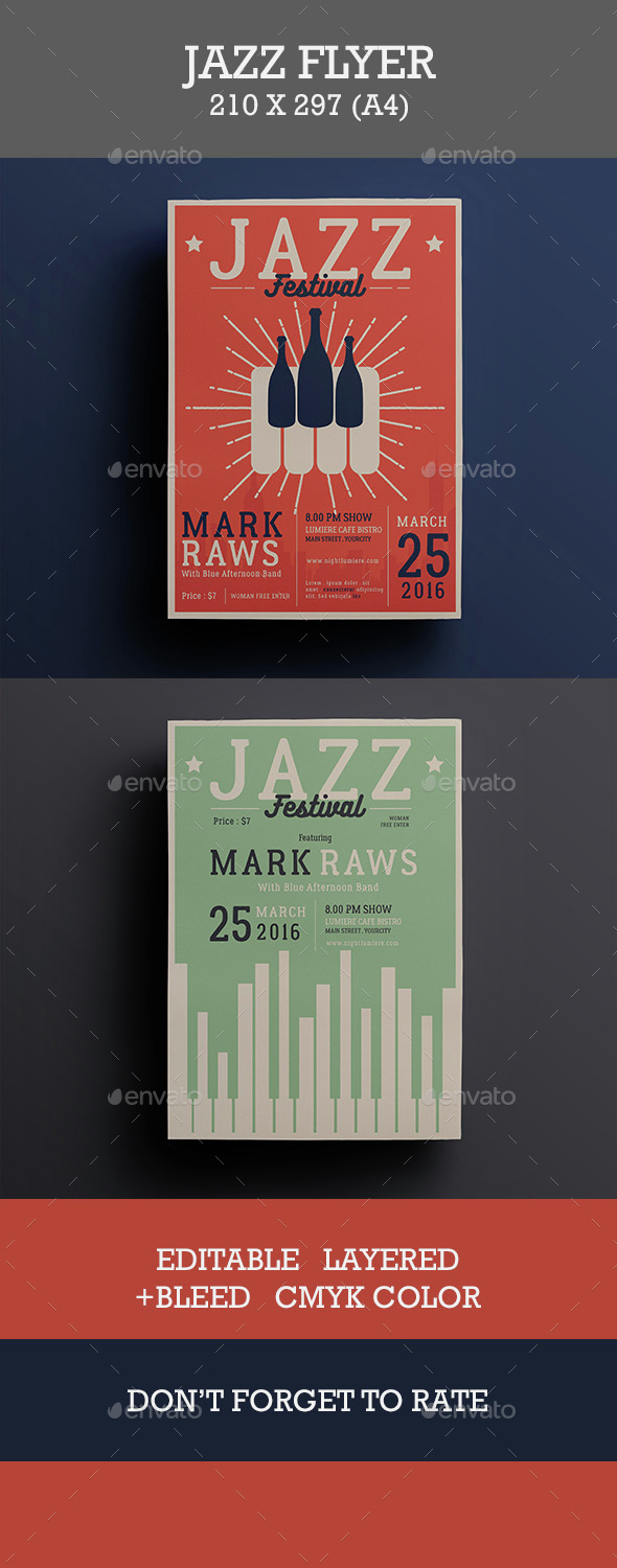 Jazz Music Flyer - Events Flyers