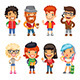 Casually Dressed Cartoon Characters - GraphicRiver Item for Sale