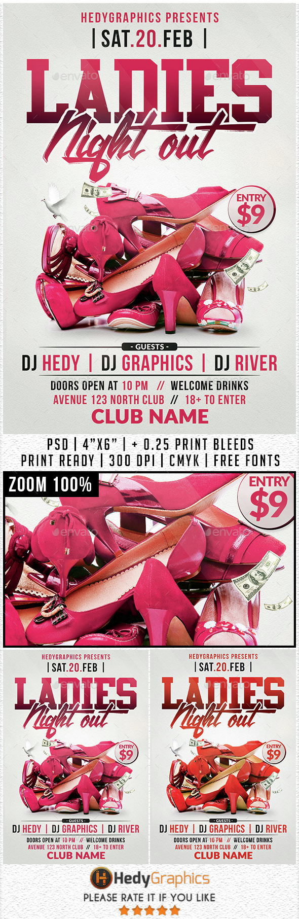 Ladies Night Out - Flyer Template - Clubs & Parties Events