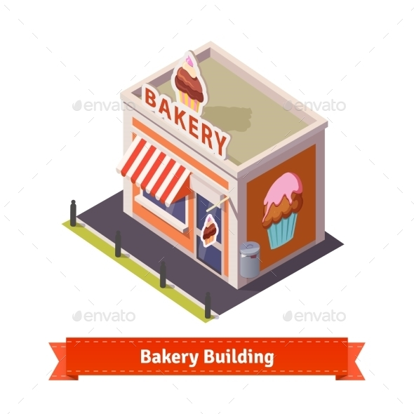 Bakery Shop Building - Buildings Objects