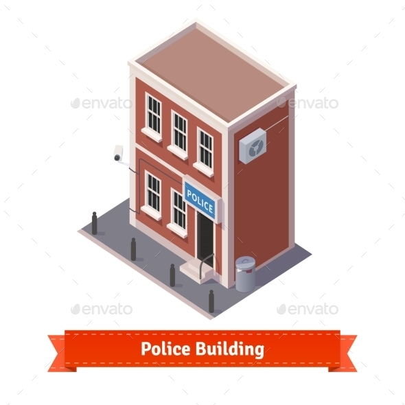 Police Station Building - Buildings Objects