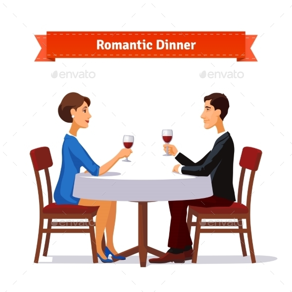 Romantic Dinner For Two - People Characters