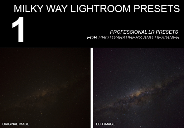 1 Preset Milky Way LR - Landscape Lightroom Presets