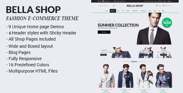 Bella Shop - Commerce Shop Drupal Theme - Fashion Retail