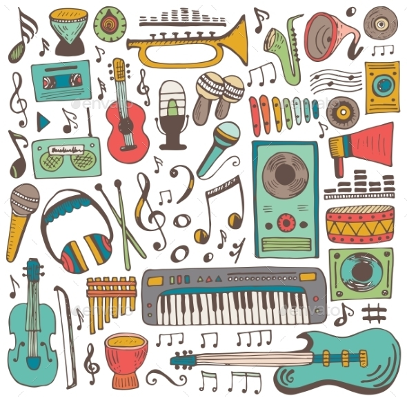 Music Doodle Collection - Decorative Symbols Decorative