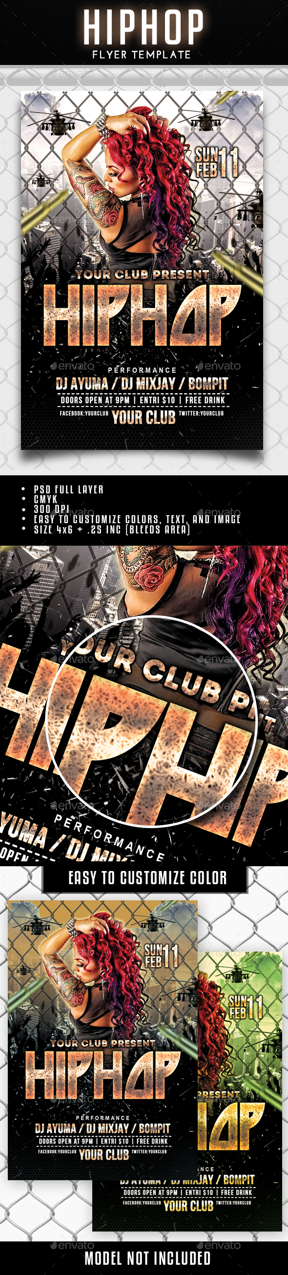 Hip Hop Flyer - Clubs & Parties Events